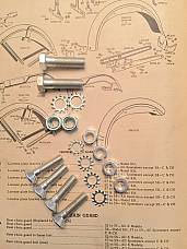 Harley Sportster 59-81 Cad Plated Rear Fender Mounting Kit XLCH XLH Mount
