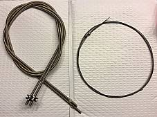 Harley JD Single VL Nickel Plated Throttle Spark Coil Cable Set 1912-30 #3334-12