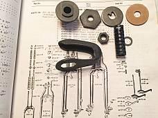 Harley 45 WLA WLC WL Servi Parkerized Steering Damper Rebuild Parts Kit 37-57
