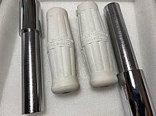 Harley JD VL Chrome Throttle & Spark Spirals & White Grips 1916-34 OEM# 3312-16