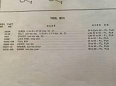 Harley Panhead Tool Box Lid Screw Stud & Clip 58-64 OEM# 64503-58A Duo-Glide