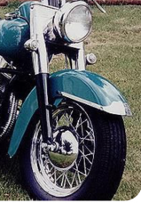 Harley 59896-49 Panhead EL FL Front Stainless Fender Trim Side Clips 1949-1956