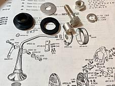 Harley K Model Sportster Bugle Trumpet Horn Rubber Mount Kit 52-64 OEM# 69051-54