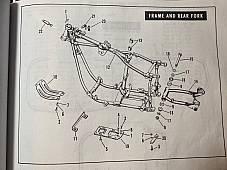 Harley 34747-65 Panhead Shovelhead Transmission Bolt Lock Plate Strip 1965-77