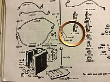 Harley Oil Tank Dip Stick Washer Knucklehead Panhead UL 1936-64 OEM# 62628-36