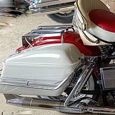 Harley Saddle Bag & Guard Rail Mount Kit Shovelhead 1965-67 OEM# 90818-65