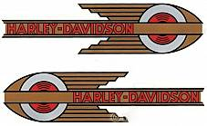 Harley 5917-36 Fuel Gas Petrol Tank Decal VL Knucklehead UL WL 1936-1939 Retro