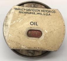 Harley 1936-37 Knucklehead UL WL Servicar Oil Pressure Gauge w/ Logo 4560-36