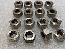 Harley #0120 JD DL A B Single WL Cylinder Base & Head Stud Nuts 1911-73 Nickel