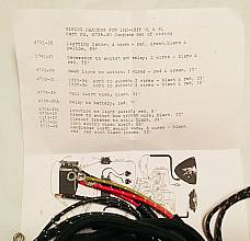 Harley 1930 VL DL Wiring Harness Kit w/ Wired Switches Dual Headlamp USA