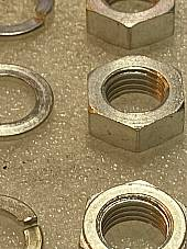 Harley 0136 7831 Knucklehead Rocker Shaft Nuts & Washers 1936-47 Cad USA