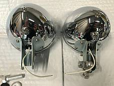 Harley 11366-38 Guide S-H2 Spot Lamps Knucklehead UL WL 1938-45 W/ Chrome Bar