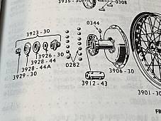 Harley 3928-44 3926-30 Felt Seal & Lock Washer 1930-52 DL RL WL WLD WLA