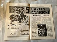 Harley Enthusiast Model Intro Issue 1935 Models Jan 1935 RL VL Servicar