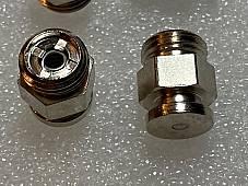Harley 0340 JD VL Knucklehead Nickel Alemite Flat Grease Fittings 5/16-32 Qty. 6