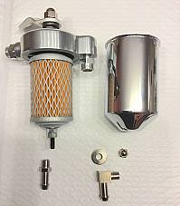 Harley Knucklehead Oil Filter Kit W/ Return Lines  OEM# 63799-47 1940-47