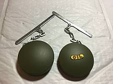 Harley Eaton Gas & Oil Caps OD Green WLA WLC w/ Chain 1941-45 3507-41B 3507-41A