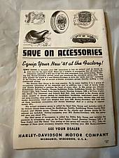 Harley Enthusiast Model Intro 1941 Models Knucklehead UL WL Sept 1940