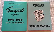 Harley Panhead Parts Book Service Manual Combo 1941-'54 1948-'57