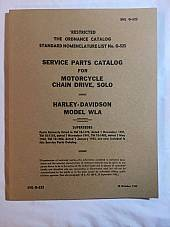 Harley WLA WLC Spare Parts Catalog Manual Book WWII 1942-1945 SNL G-523