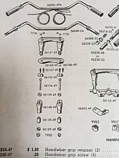 56167-49 Riser Stud and Acorn Kit for Harley Panhead FL Models 1949-59 OEM No