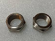 Harley JD Front Hub Cone Nuts Axle 1921-1929 Nickel Replaces OEM# 3929-21 USA