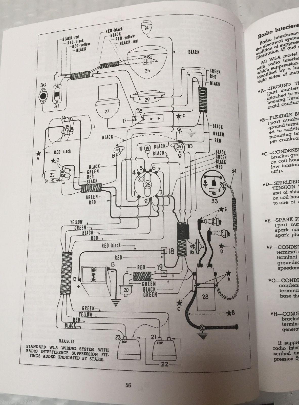 Harley 45 U201d Solo  U0026 Servicar Wl Wla Service Manual 1940