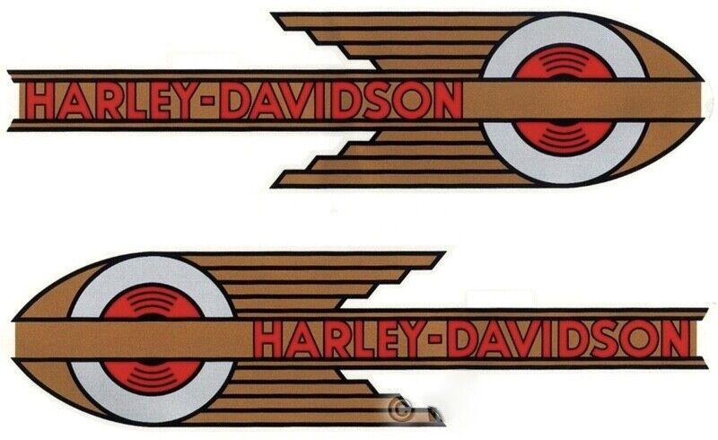 DECALS for Gas Tanks 1934 - 1935 Harley - Davidson VL 45