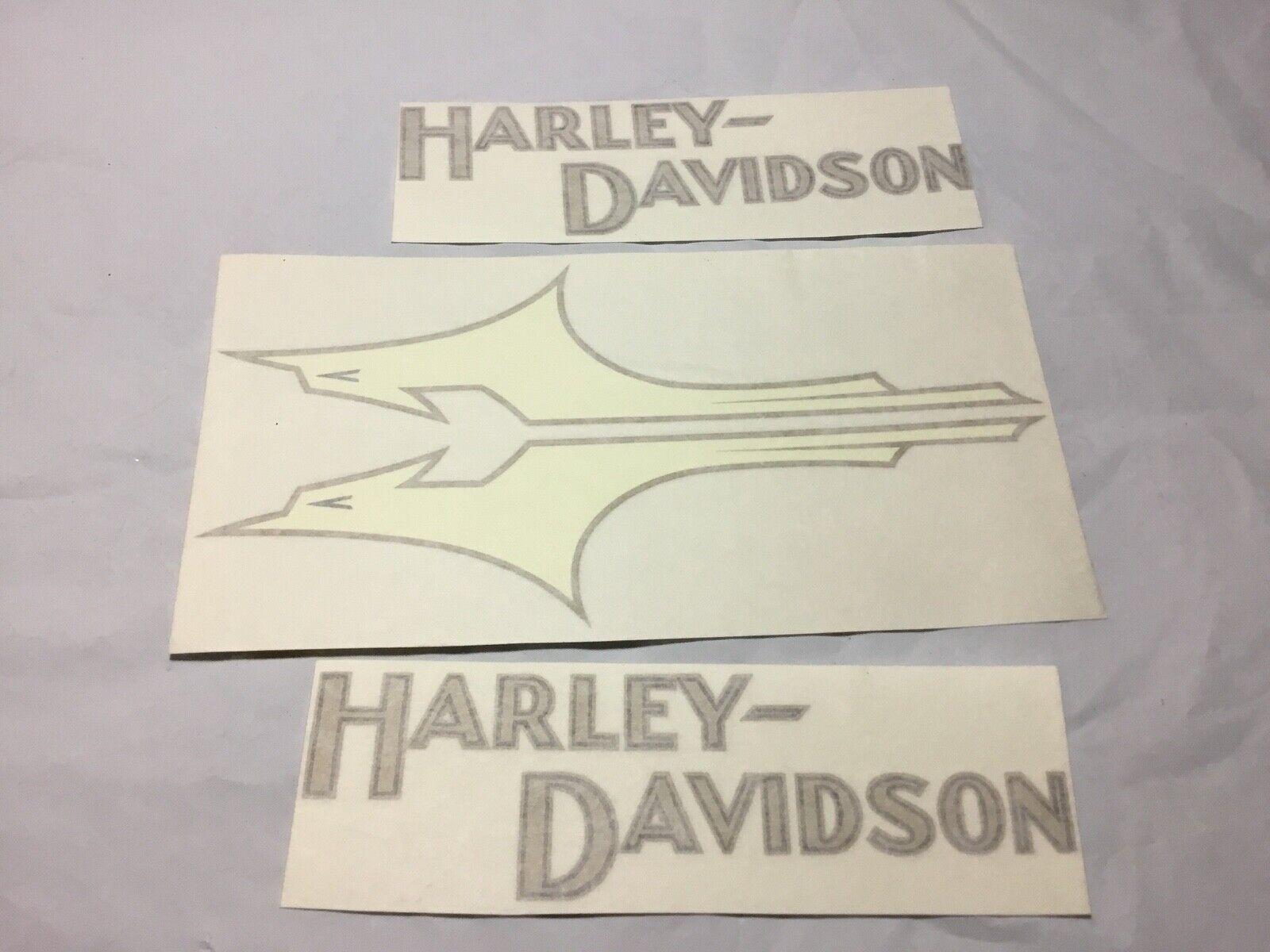 Harley Davidson Fxstc Softail Decals Gold Black Set Of 2 Fuel